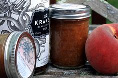 Peach rum sauce!  From Ball Canning Think I will be making this this weekend =)