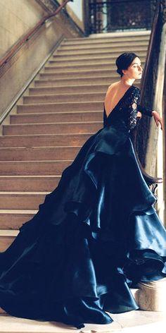 Black Wedding Dresses Ideas For Fashion Forward Brides ❤ See more: http://www.weddingforward.com/black-wedding-dresses/ #weddings