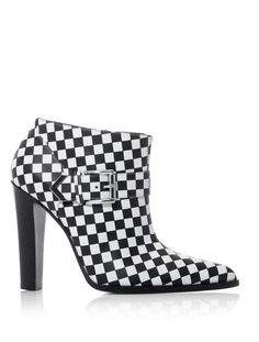 27d2c58bde8c Check Leather Ankle Boots - Lyst Best Ankle Boots