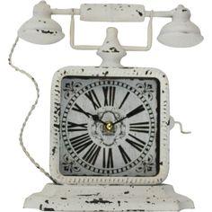 ΡΟΛΟΙ ΤΗΛΕΦΩΝΟ ΜΕΤΑΛΛΙΚΟ ΛΕΥΚΟ Clock, Retro, Wall, Collection, Home Decor, Watch, Decoration Home, Room Decor, Clocks