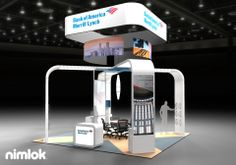 Client Name: Bank of America Merrill Lynch  Design #: 56292  Size: 20x20  Large, nested fabric hanging structures broadcast your brand across the show floor in this island exhibit design. Fabric arching banners - which seamlessly integrated lighting, literature racks, multimedia and more - enclose a conference space in the center of the design.  Additional Options:  Semi Private Conference Fabric Graphics Fabric Structure Counters