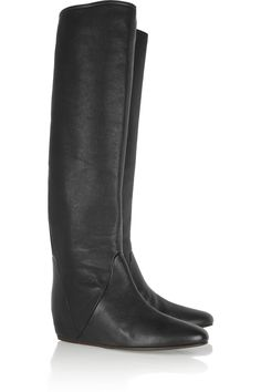 3b542ea63c6 Lanvin - Textured-leather knee boots. Buy BootsWedge ...