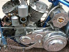Photo of 1942 Flathead Harley Davidson WLA engine.