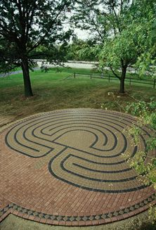 Oswego Presbyterian Church Labyrinth, built by Marty Kermeen of Labyrinths in Stone