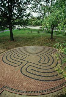 Oswego Presbyterian Church Labyrinth, built by Marty Kermeen of Labyrinths in Stone