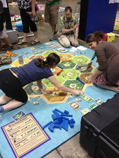 We love us some Settlers of Catan, but I wish we had a board this size in the office!