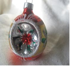 Vintage Indented Hand Painted Christmas by AuntSuesVintage on Etsy, $9.99
