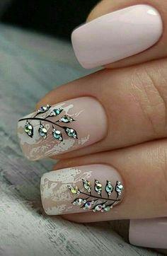 NagelDesign Elegant ( 25 Elegant Nail Designs t. ) NagelDesign Elegant ( 25 Elegant Nail Designs t. Elegant Nail Designs, Fall Nail Art Designs, Easy Nail Art, Cool Nail Art, Diy Nails, Cute Nails, Trendy Nails, Valentine Nail Art, Wedding Nails Design