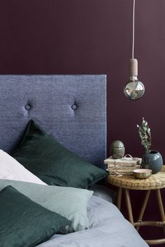 Inspiration from Broste Copenhagen's AW 2016 Collection – Nordic Design Purple Interior, Room Interior, Interior Design, Home Bedroom, Bedroom Wall, Bedrooms, Plum Living Rooms, Plum Walls, Purple Wall Decor