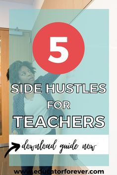 As a teacher, you have skills and knowledge that you can use outside of the classroom, which means extra income! Learn more about 5 side hustle ideas for teachers that will help you make money in your pajamas! Creating A Portfolio, Find A Career, Education Degree, You Can Do Anything, Teacher Style, A Classroom, Work From Home Jobs, Teaching Resources, Hustle