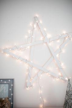 DIY hanging star.