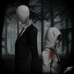 Two of Internet's favorite creepypasta characters, Slenderman and Jeff the Killer, about to face each other in a gruesome death battle. Choice Your Side Creepypasta Girls, Creepypasta Proxy, Creepypasta Characters, Silent Horror, Girls Characters, Fictional Characters, Dhmis, Old Fan