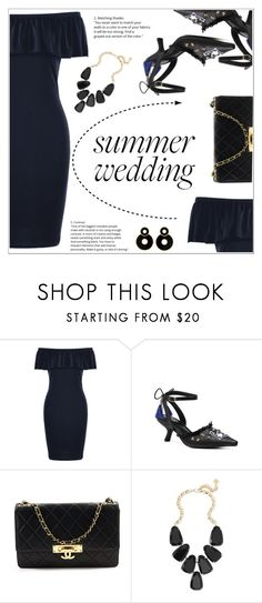 """Summer Wedding Guest Outfit"" by shambala-379 ❤ liked on Polyvore featuring Chanel and Kendra Scott"