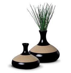 Vasos de cerâmica para decorar