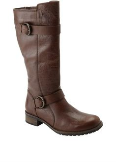 Leather Mid Calf Boots