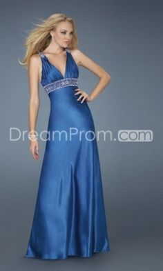 Buy Cheap Cheap Elegant V-Neck Sky Blue Empire A Line Evening Dresses SN100996 Default Category under $150.99 only in udreamprom.
