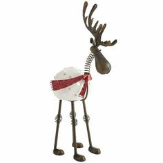Bobble Head Reindeer Tealight Holder - love this! I have it on my coffee table :)