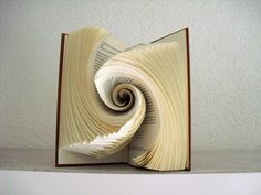Book folding art by schaduwlichtje
