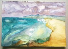 Seascape, 2012, watercolour on 300gsm. - by Heather Jennings