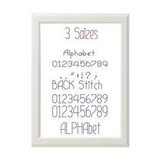 Back Stitch Alphabet 3 sizes Alphabet Cross от AnimalsCrossStitch