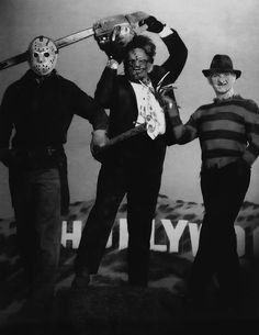 Freddy Krueger, Jason Voorhees and Leatherface