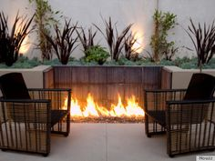 real nice outdoor fire pits