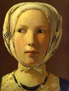 The Fortune-Teller, (detail) Georges de La Tour. French Baroque Era Painter, (1593-1652)