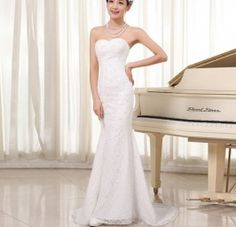 Gorgeous Lace Wedding Dress Fashion White Lace Beading Mermaid Wedding dress with Train     AMAZING price at USD102 ONLY! Promo runs till end April 2014  http://www.e1weddingdress.com/pd--p-563632-a-0-ex-0-pn-Lace-Wedding-Dress-Fashion-White-Lace-BeadingMermaid-Wedding-dress-with-Train-Discount-Online-Shopping.html