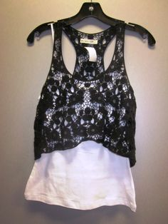 Lace crop top 100% cotton S-M-L $19.99  Basic spaghetti strap 95% cotton 5% spandex S-M-L *** available in many other colors ***