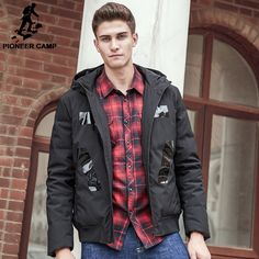 thick down coat men brand-clothing 90% white duck down jacket men