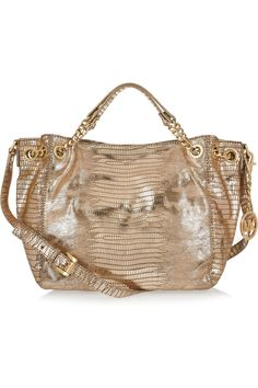 MICHAEL Michael Kors  Jet Set Chain lizard-effect leather shoulder bag
