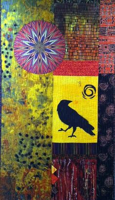 A colorful art quilt by Constance Waisanen
