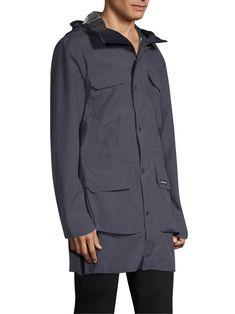 Canada Goose Harbor Hooded Waterproof Rain Jacket - Polar Sea Medium
