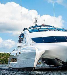 Porsche-Designed Superyacht, Royal Falcon One, Hits the Market Yatch Boat, Catamaran, Movie Projector, Porsche Design, Pent House, Skyscraper, Ships, Architecture, Luxury