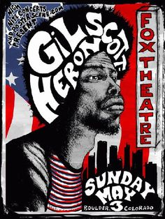 Gil Scott soul poster by Darren Grealish #