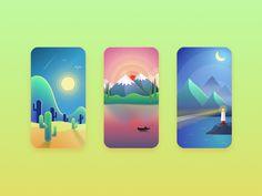 Scenery(3p) by CintyChan #Design Popular #Dribbble #shots