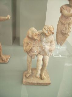Otra foto de la comedia romana, tambien conocida como Fábula Palliata.
