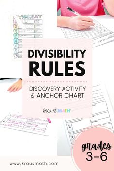 DIVISIBILITY RULES REFERENCE SHEET & CLASSROOM POSTER *Updated JUNE 2020! Check out the DIVISIBILITY NOTES & WORKSHEET BUNDLE #3rdgrademathteks #4thgrademathteks #5thgrademathteks #6thgrademathteks #7thgrademathteks #8thgrademathteks #anchorcharts