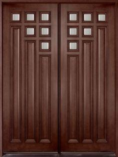 Inspiring Double Fiberglass Entry Door As Furniture For Home Exterior And Front Porch Decoration : Endearing & Dark Walnut Exterior Fiberglass Door | Darpet Interior Doors for ... Pezcame.Com