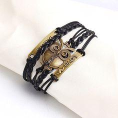 Vintage Multi-layer Charm Leather Bracelet Women