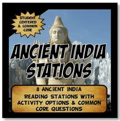 This content rich activity is student centered and interactive.The activity has 8 stations detailing the geography, achievements, social classes, leadership, economy and religion of Ancient India. The stations cover key aspects of the Indus River Valley (Harappan Culture), Aryan, Mauryan and Gupta Empires.Readings come with pictures, artifact graphics and maps.