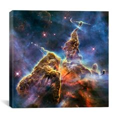 Found it at Wayfair - Astronomy and Space Mystic Mountain in Carina Nebula II (Hubble Space Telescope) Graphic Art on Canvas