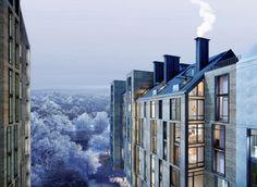 Жилой комплекс на улице Стрыйской в г. Львов. Террасы © Архиматика