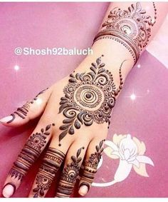 Mehndi Design to Back hands Arabic Henna Designs, Stylish Mehndi Designs, Mehndi Design Pictures, Unique Mehndi Designs, Beautiful Mehndi Design, Latest Mehndi Designs, Mehndi Designs For Hands, Mehndi Images, Mehndi Tattoo
