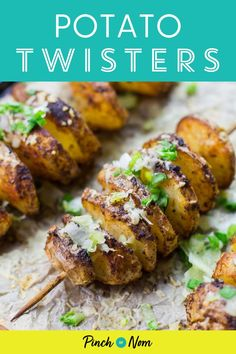 These Potato Twisters are the best thing to accompany a steak on a Saturday night. #potatoes #side