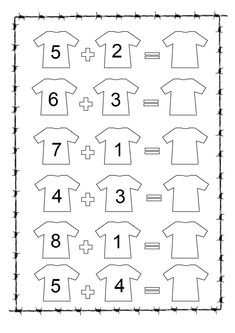 Missing Number Worksheet Pdf easy and printable 1st Grade Writing Worksheets, Math Addition Worksheets, English Worksheets For Kindergarten, Free Printable Math Worksheets, Kindergarten Math Activities, Kindergarten Math Worksheets, Preschool Math, Missing Number Worksheets, Summer Worksheets