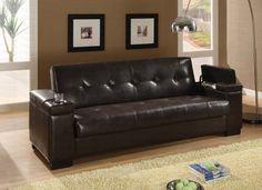 leather sofa   I like the paint color too...