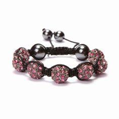 Rose Crystal Shamballa Bracelet #Kalifano