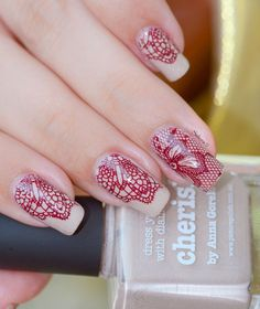 Stamping with Picture Polish  CHERISH and Messy Mansion plate #44 ~ by tenshi no hana