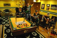 Winner: Most Creative Packers Home Decorations  #ManCave #WomanCave